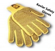Kevlar Safety Gloves w/ Fing LG