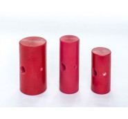 "Small Mallet Head Red Elastomer DIA 1-3/4 Width 4"" long Head Only"