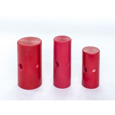 "Small Mallet Head Red Elastomer DIA 1-3/4 Width 4"" long Head Only-D1013H"