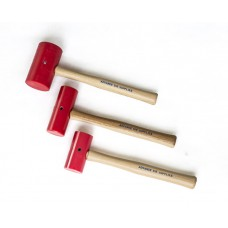 Medium Mallet Head Red Elastomer DIA 2x5 Head Only-D1014